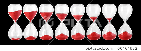 Hourglass isolated on black 60464952