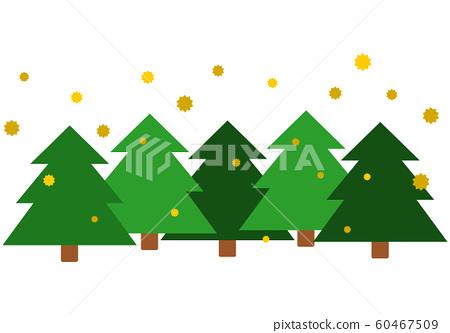 雪松森林和飛行花粉 60467509
