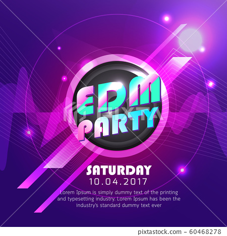 electronic dj music party design background poster 60468278