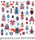 Unusual Bugs and Weird Beetle Species Icons 60470496