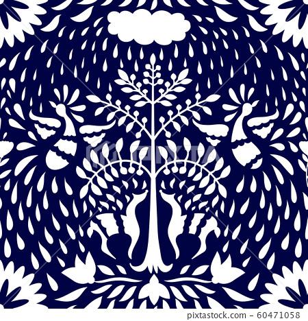 Otomi Style Seamless Pattern 60471058