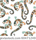 Vector seamless pattern with  lizards. 60471249
