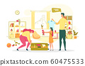 Family Summer Vacation Travel Flat Vector Concept 60475533