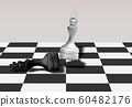 White Chess King / Queen Break Down Black Chess 60482176
