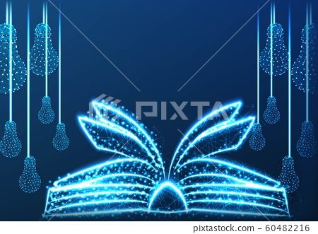 bulb, Lamp, Abstract low Poly Wireframe mesh 60482216