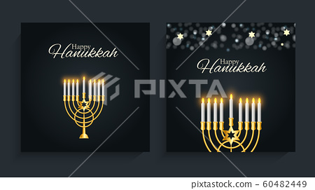 Happy Hanukkah, Jewish Holiday Background. Vector 60482449