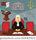 Color vector clipart. Infographic judge. Profession of the judge 60482922