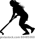 girl with a ball play field hockey 60485060