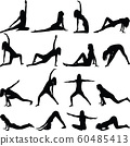 yoga exercise silhouette 60485413
