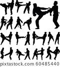 taekwondo woman silhouette vector 60485440