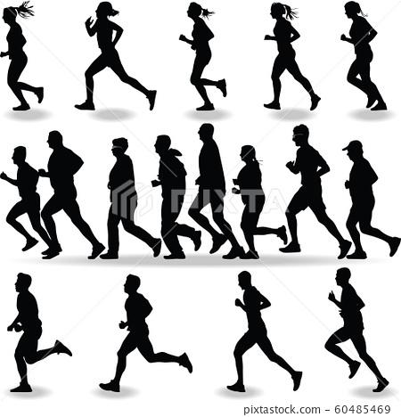 runner silhouette vector 60485469
