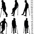 Man with broken leg 60485593