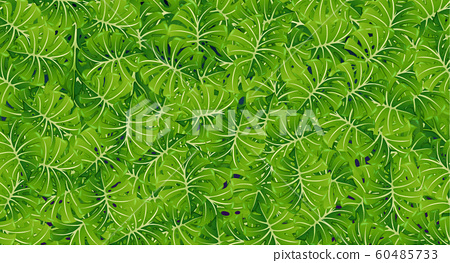 Background template with green leaves 60485733