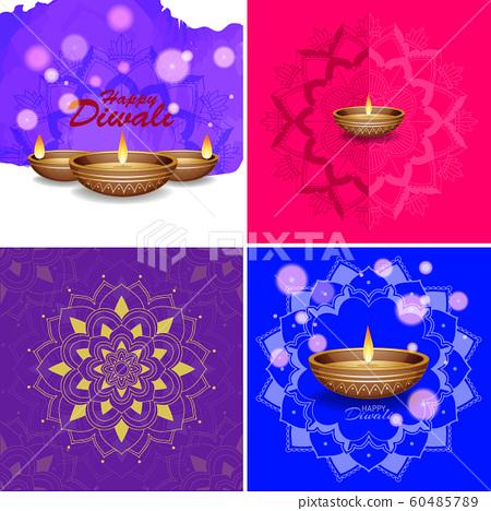 Background Template With Mandala Designs Stock Illustration 60485789 Pixta