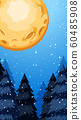 Background scene with fullmoon in winter 60485908