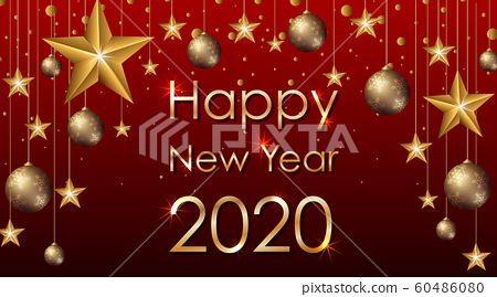 Happy new year background design with stars 60486080