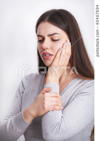 Tooth Pain. Beautiful Woman Feeling Strong Pain, Toothache 60487694