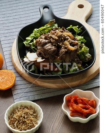 한국의 전통음식 소불고기 60490047