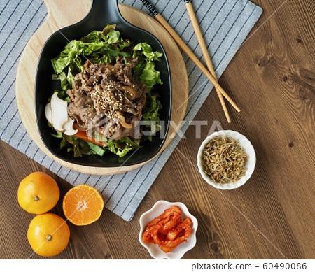 한국의 전통음식 소불고기 60490086