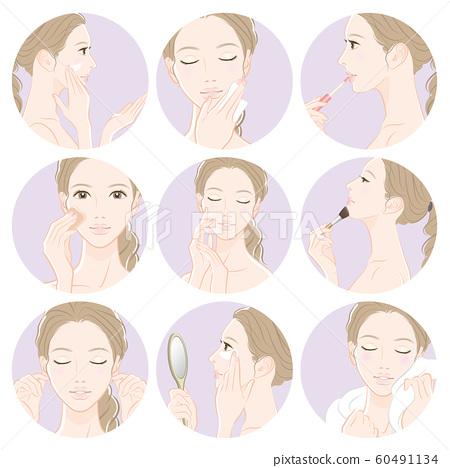 做護膚的婦女的例證 60491134