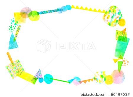 背景材料水彩紋理框架 60497057