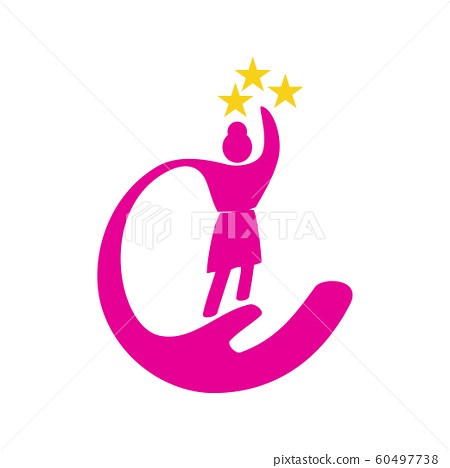 Woman power Care Success logo vector illustration 60497738