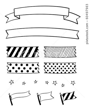 鋼筆標記手繪裝飾套(色帶,膠帶,國旗) 60497983
