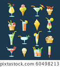 Big set of vector cocktails and ice cream icons. 60498213