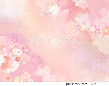 배경 - 일본 - 일본식 디자인 - 일본식 - 봄 - 핑크 60499606