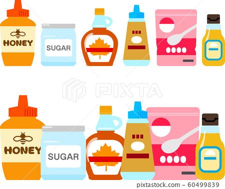 Sugar and sweetener illustration set 60499839