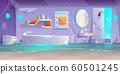 Abandoned futuristic bathroom, flooded interior 60501245