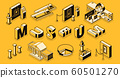 Art museum isometric projection background 60501270
