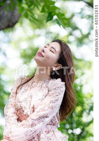 아름다운 대한민국 여성의 표정, 공원 산책 60502633