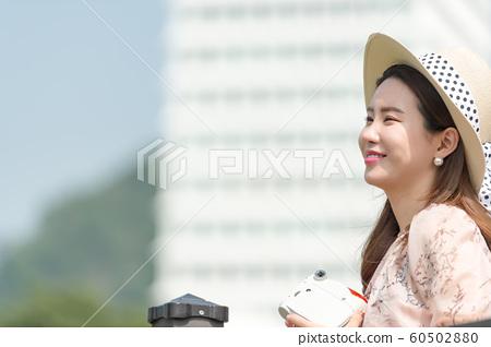 아름다운 대한민국 여성의 표정, 공원 산책 60502880