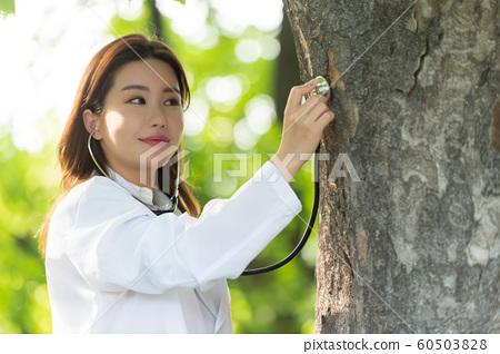 아름다운 대한민국 여성의 표정, 공원 산책 60503828