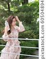 아름다운 대한민국 여성의 표정, 공원 산책 60504894