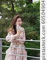아름다운 대한민국 여성의 표정, 공원 산책 60504904