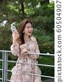 아름다운 대한민국 여성의 표정, 공원 산책 60504907