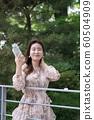 아름다운 대한민국 여성의 표정, 공원 산책 60504909