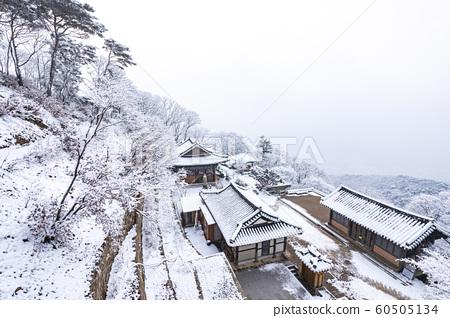 산사의 겨울 풍경 60505134