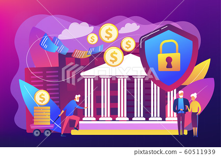 Retirement investments concept vector illustration. 60511939