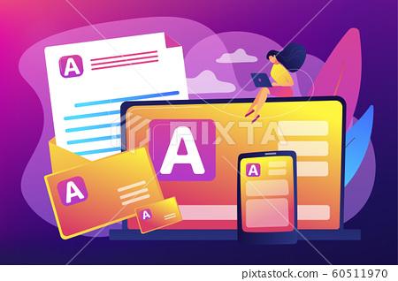 Corporate literature concept vector illustration. 60511970