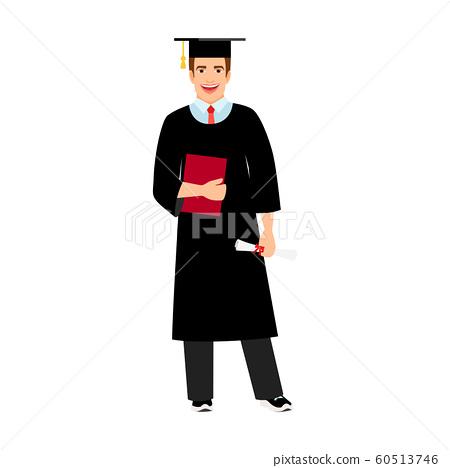 University male student graduate icon 60513746