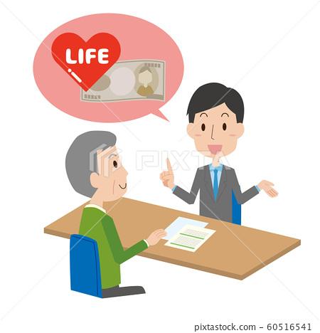 Insurance Explanation Explanation Sales Solicitation Male Older Aged 60516541
