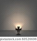 Spotlight realistic illustration with warm light 60526696