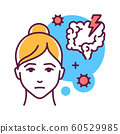 Intestinal flu color line icon. An intestinal 60529985