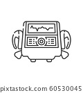 Defibrillator line black icon. Electropulse 60530045