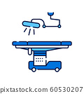 Operating hospital room and equipment line color 60530207