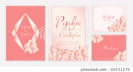 Save the date wedding card. Wedding invitation... - Stock ...