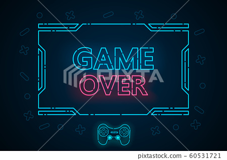 Game over abstract technology interface hud vector design for E sports business. 60531721